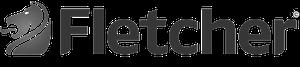 Fletchers-padded Logo schwarz weiss