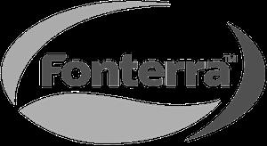 Fonterra Logo schwarz weiss